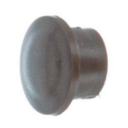 Bouchon PVC coulisse volet roulant marron - 10 mm