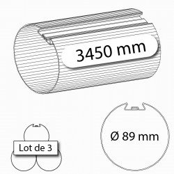 Tube d'enroulement porte de garage Deprat 89 3450 mm - lot de 3