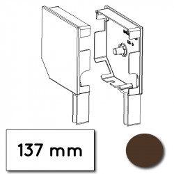 Flasque volet roulant aluminium 45° pan coupe 137 mm marron - ral 8019