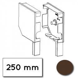 Flasque volet roulant aluminium 45° pan coupe 250 mm marron - ral 8019
