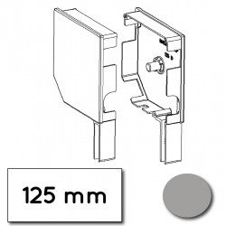 Flasque volet roulant aluminium 45° pan coupe 125 mm gris - ral 7038