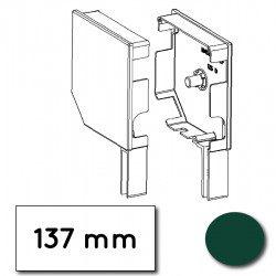 Flasque volet roulant aluminium 45° pan coupe 137 mm vert mousse - ral 6005