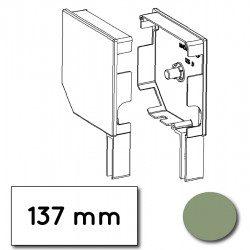 Flasque volet roulant aluminium 45° pan coupe 137 mm vert pale - ral 6021