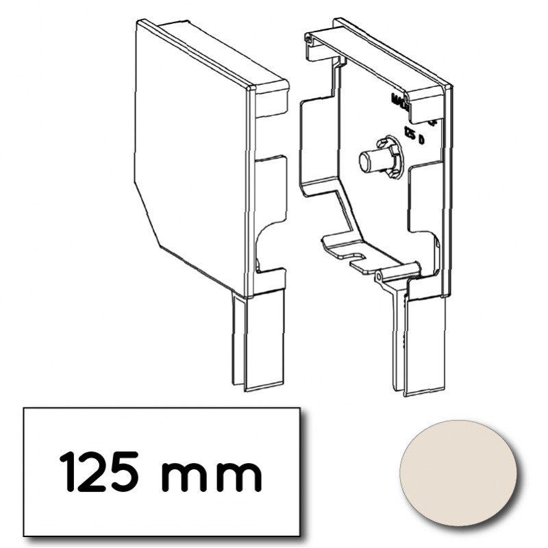 Flasque volet roulant aluminium 45° pan coupe 125 mm creme - ral 9001