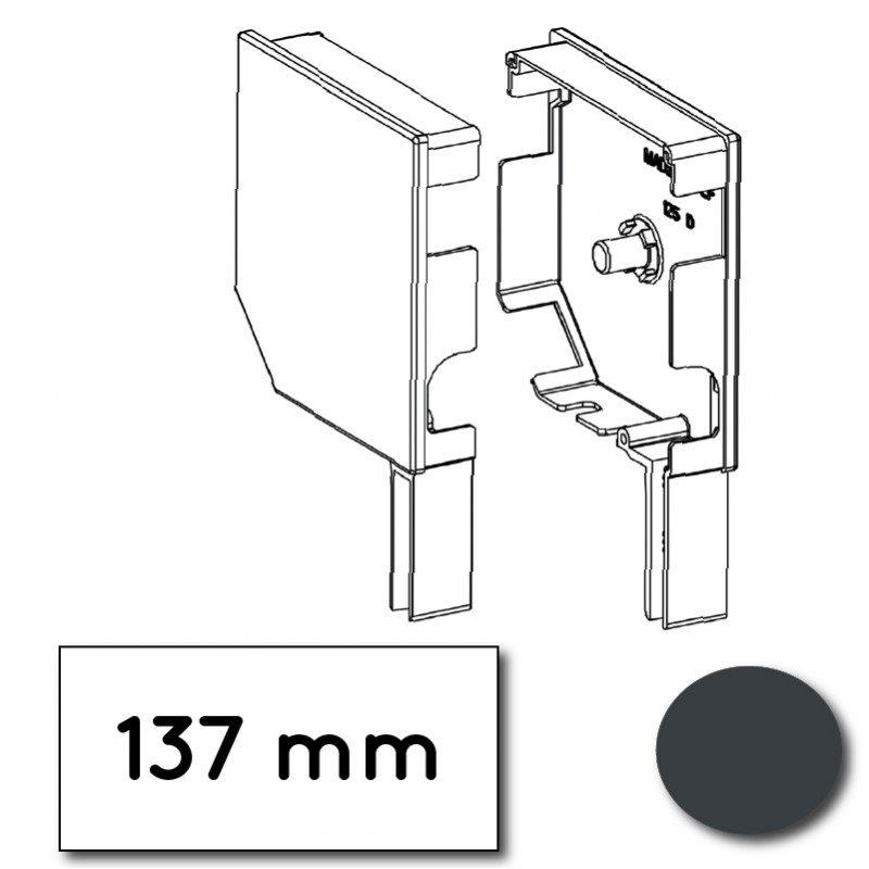 Flasque volet roulant aluminium 45° pan coupe 137 mm gris anthracite - ral 7016