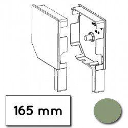 Flasque volet roulant aluminium 45° pan coupe 165 mm vert pale - ral 6021
