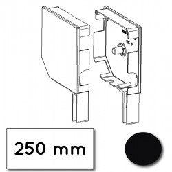 Flasque volet roulant aluminium 45° pan coupe 250 mm noir fonce - ral 9005