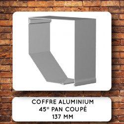 Coffre volet roulant aluminium 45° pan coupé 137 mm