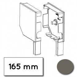 Flasque volet roulant aluminium 45° pan coupe 165 mm gris quartz - ral 7039