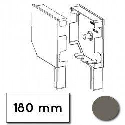 Flasque volet roulant aluminium 45° pan coupe 180 mm gris quartz - ral 7039