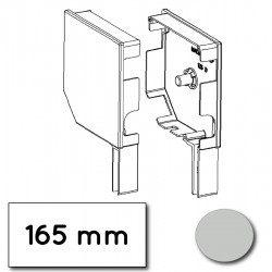 Flasque volet roulant aluminium 45° pan coupe 165 mm gris clair - ral 7035