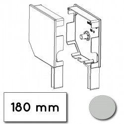 Flasque volet roulant aluminium 45° pan coupe 180 mm gris clair - ral 7035