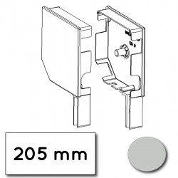 Flasque volet roulant aluminium 45° pan coupe 205 mm gris clair - ral 7035