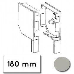 Flasque volet roulant aluminium 45° pan coupe 180 mm gris alu-metallic - ral 9006