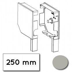 Flasque volet roulant aluminium 45° pan coupe 250 mm gris alu-metallic - ral 9006