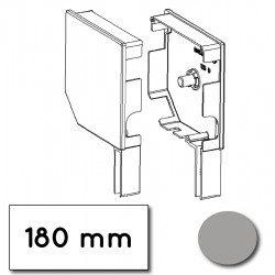 Flasque volet roulant aluminium 45° pan coupe 180 mm gris - ral 7038