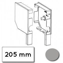 Flasque volet roulant aluminium 45° pan coupe 205 mm gris - ral 7038