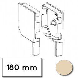 Flasque volet roulant aluminium 45° pan coupe 180 mm ivoire - ral 1015