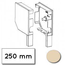 Flasque volet roulant aluminium 45° pan coupe 250 mm ivoire - ral 1015