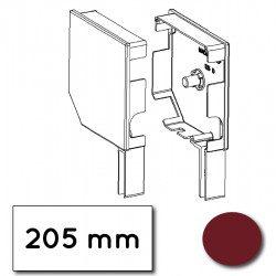 Flasque volet roulant aluminium 45° pan coupe 205 mm rouge pourpre - ral 3004