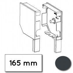 Flasque volet roulant aluminium 45° pan coupe 165 mm gris anthracite - ral 7016