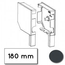 Flasque volet roulant aluminium 45° pan coupe 180 mm gris anthracite - ral 7016