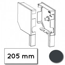 Flasque volet roulant aluminium 45° pan coupe 205 mm gris anthracite - ral 7016