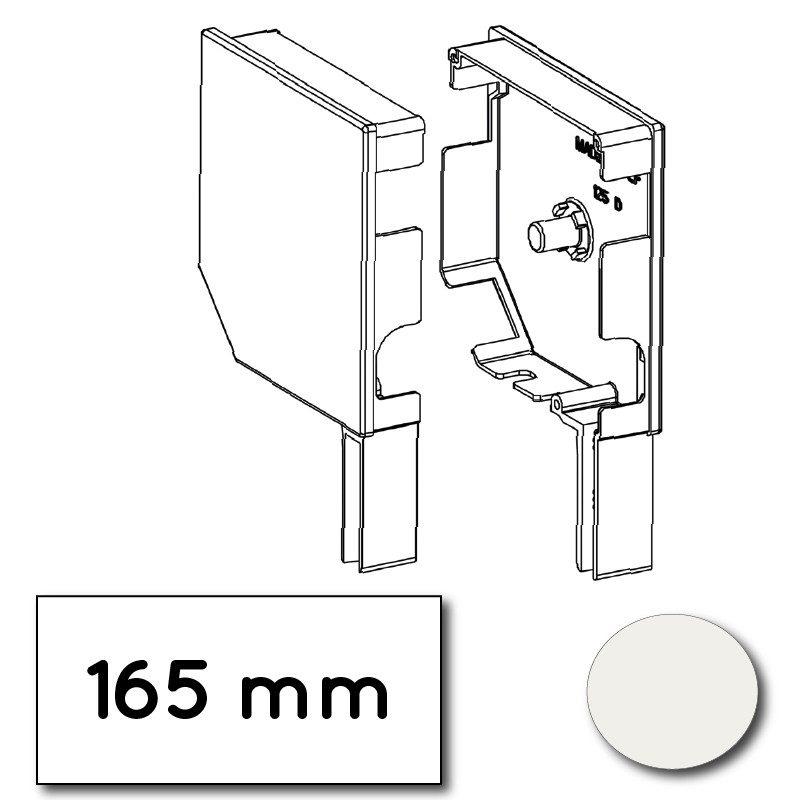 Flasque volet roulant aluminium 45° pan coupe 165 mm blanc beige - ral 9016