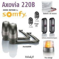 Somfy Axovia 220B Moteur de portail battant Pack confort