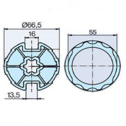 Bagues moteur volet roulant Becker R 45 mm