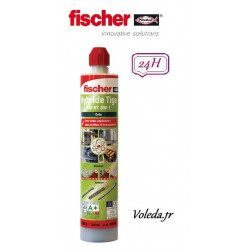 Resine hybride Fischer tiges filetees FIS HT 300 T Gris