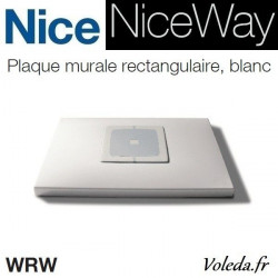 Plaque murale Nice Opla rectangulaire blanche