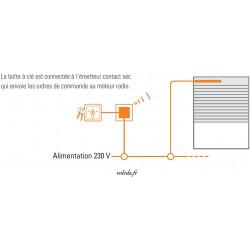 Croquis de l'émetteur Simu Hz contact sec