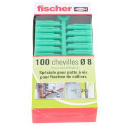 Chevilles polypropylène Fischer P 8 C PVB - boîte de 100