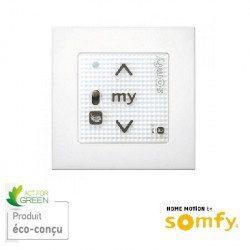 Emetteur mural Smoove RS100 io Somfy Blanc + cadre
