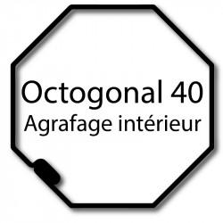 Bagues moteur volet roulant Cherubini - Octogonal 40 - Agrafage interieur