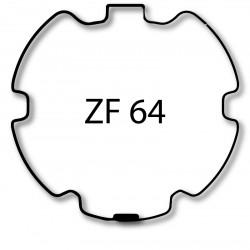 Bagues adaptation moteur Came 45 mm - Rond ZF 64