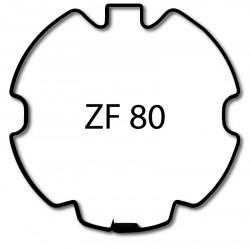 Bagues adaptation moteur Came 55 mm - Rond ZF 80