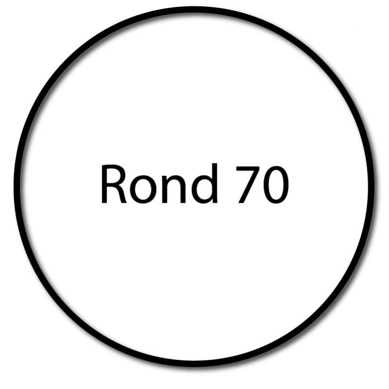 Bague adaptation moteur Deprat tube rond lisse 70