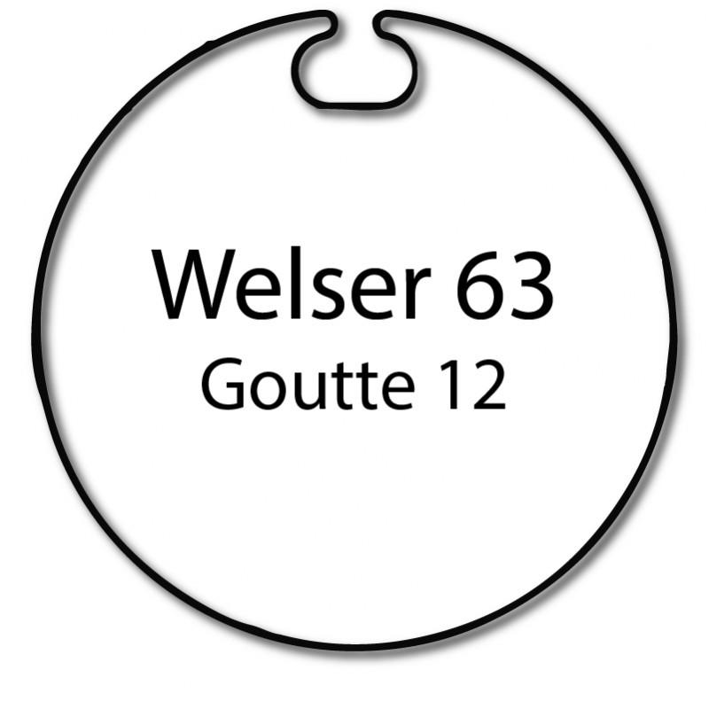Bague adaptation moteur Somfy LT50 Welser 63