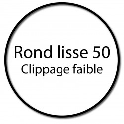 Bague adaptation moteur Somfy LT50 rond lisse 50 - clippage faible