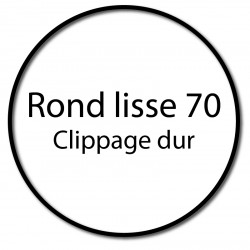 Bague adaptation moteur Somfy LT60  rond lisse 70x2mm - clippage dur