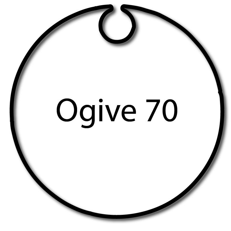 Bague adaptation moteur Nice Era M Rond avec Ogive 70