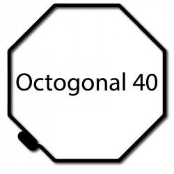 Bagues moteur volet roulant Cherubini - Octogonal 40 - Agrafage exterieur