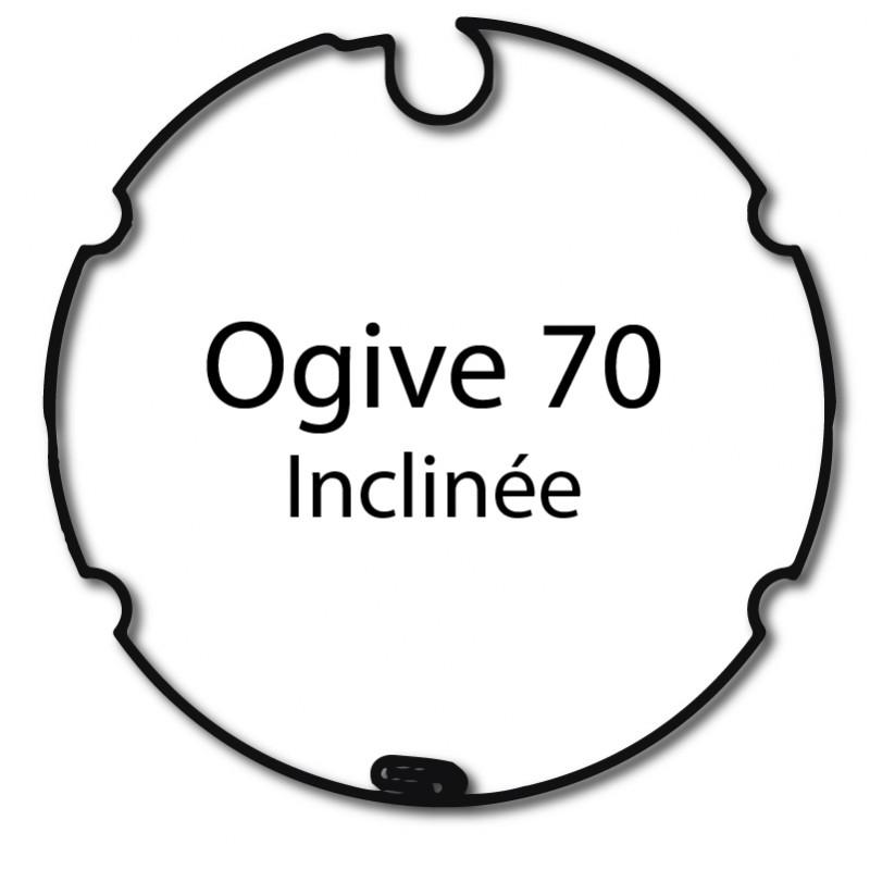 Bague adaptation moteur Nice Era M Ogive 70 inclinée