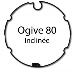 Bagues adaptation moteur Nice Era M et MH - Ogive 80 inclinee
