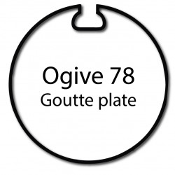 Bague adaptation moteur Nice Era L Goutte plate 78