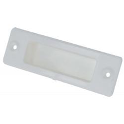 Poignée cuvette volet roulant PVC blanc 110 mm