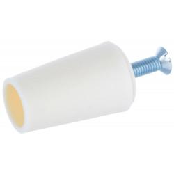 Butée volet roulant conique crème blanc 40 mm
