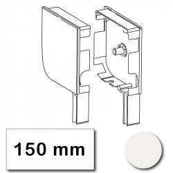 Flasque volet roulant aluminium 150 mm arrondie blanc belge